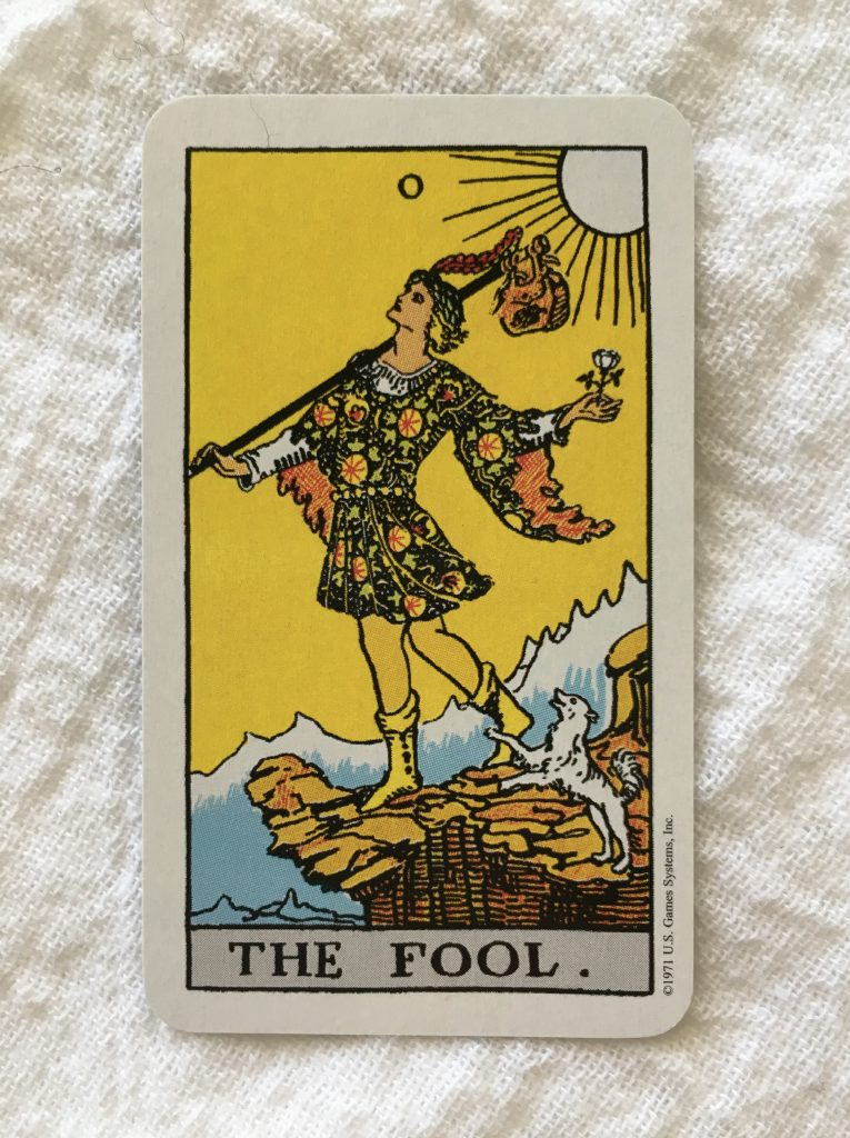 The Fool tarot card. Rider-Waite-Smith Tarot