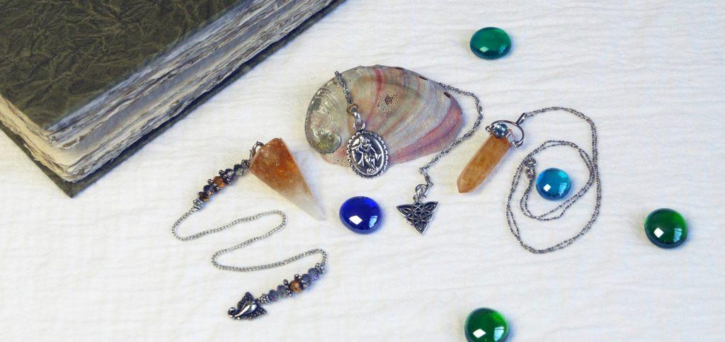 crystal pendulum, silver pendulum, citrine pendulum, necklace pendulum