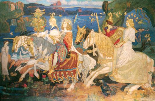 "Painting, ""Riders of the Sídhe"" by John Duncan"